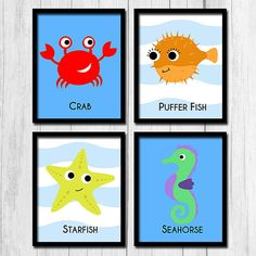 Under the Sea Printables Starfish Decor Crab by TheNerdyFamily
