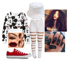 """""""Untitled #498"""" by skittlesforever123 ❤ liked on Polyvore featuring Forever 21 and Converse"""