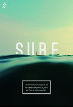 The simplistic typography is perfect in reflecting the calm nature of the water.