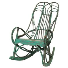 Handcrafted Twig Willow Rocking Chair | From a unique collection of antique and modern rocking chairs at http://www.1stdibs.com/furniture/seating/rocking-chairs/
