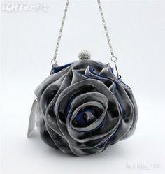 0d39b0a55102 Mini Blue/Grey Flower Clutch Purse - $28.99 (iOffer)