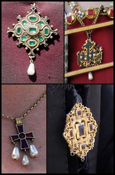 Tudor jewellery by Kotomicreations, via Flickr