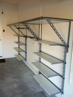 Adjustable diy steel garage shelves   Home Interiors