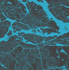 Stockholm, Sweden -  Maps by Map Map Maps, via Behance I love this pic bec. you can see how this beaautiful city is built on islands.