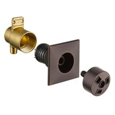 Delta Venetian Bronze Finish HydraChoice Invigorating Square Shower System Body Spray COMPLETE Includes Valve, Trim, and Spray Multiple Shower Heads, Custom Shower, Delta Faucets, Shower Systems, Water Conservation, Body Spray, Bronze Finish, Venetian, Sprays