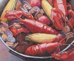 """New England Clambake"" - Original Fine Art for Sale - © Deborah Newman"