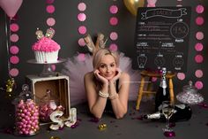 Adult Cake Smash, Adult tutu, Giant Cupcake, pink and grey, Edmonton Cake Smash photographer