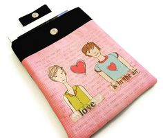 Padded iPad Case - You and Me  via Etsy