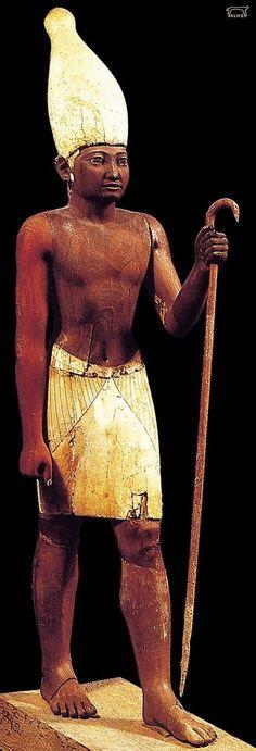 Wooden statue of Senwosret I (Kheper-Ka-Ra) - second king of the 12th Dynas