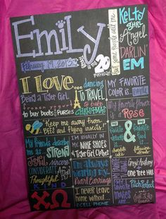 chalkboard birthday sign fonts | Custom Hand-Painted 20x30 BIRTHDAY POSTER for birthday party photo ...