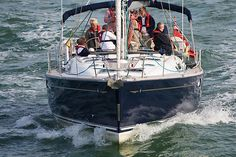 The Jeanneau Sun Odyssey 49 'First Charge' in the Solent