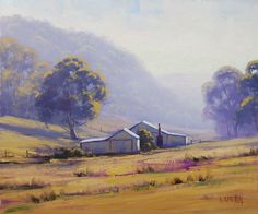 Foggy Morning Lithgow NSW by artsaus on deviantART. Graham Gercken. paintings are in Oil on Linen canvas using both brush and palette knife