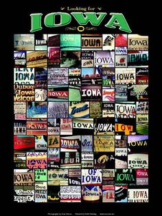 State Art - Iowa Prints and Posters.  I want this so much!