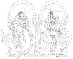 The Little Mermaid Lineart By Zephyri On DeviantArt