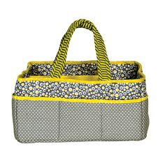 Add organization to any area of your home with this Hello Sunshine portable Storage Caddy by Trend Lab. This lightly padded caddy features a gray with white dot print base with mini starburst print to