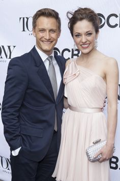 Laura Osnes and husband Nathan Johnson at the Tony Eve Cocktail Party