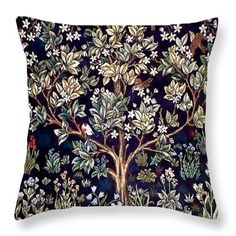 William Morris Throw Pillow featuring the painting Tree Of Life by William Morris