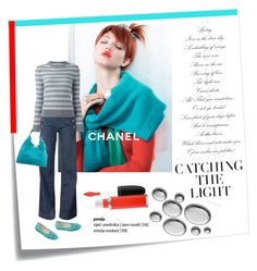 """""""Turquoise Ping"""" by paperdollsq ❤ liked on Polyvore featuring Post-It, Chanel, Tommy Hilfiger, Reed Krakoff, Valentino, Liz Claiborne, MAC Cosmetics and hookedonstyle"""