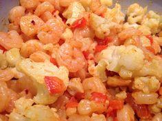 Curried Shrimp & Cauliflower Stir Fry