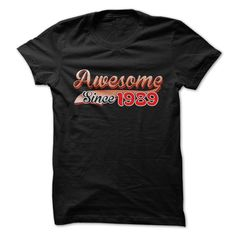 Awesome since 1989 T-Shirts, Hoodies. VIEW DETAIL ==► https://www.sunfrog.com/Birth-Years/Awesome-since-1989-1er3.html?id=41382