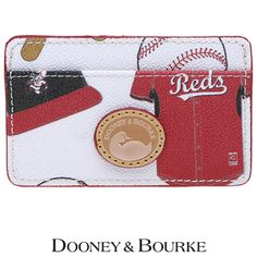 A cute Dooney & Bourke to slip in your pocket so your hands are free to do other things... like cheer for the Reds! | #Reds #Redsbaseball #Style #DooneyBourke