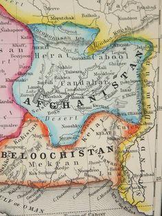 1898 Map of Middle East Turkestan Map Iraq Armenia Map Turkey