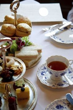 """a pinner said , """"I love going to proper English tea with my mom ♥"""" I love tea parties with my granddaughters. Not always proper :)"""