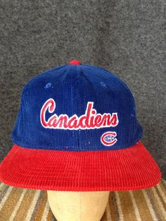 3a2e6fed3bff6 Vintage Montreal Canadiens snapback hat by littleshopofmatthews Montreal  Canadiens