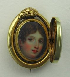 From Hayden Peters's wonderful Art of Mourning website. A serpent frame on a mourning brooch. 1850s