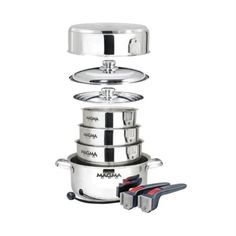 Magma 10 Piece Stainless Steel Induction Cook-Top Gourmet Nesting Cookware Set Magma Products, Inc.,http://www.amazon.com/dp/B00B99RJS2/ref=cm_sw_r_pi_dp_PgAptb0GZR5Q4PGF