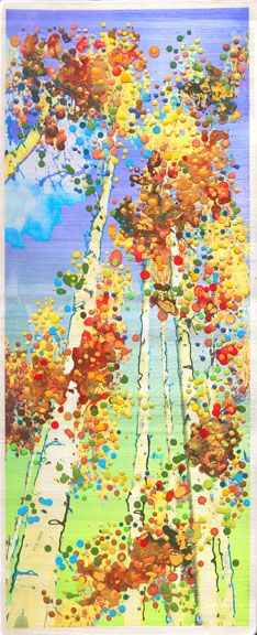 Aspen Smash - Julia Watkins  Love the fall colors! I wish my oil paints would work so I could do stuff like this!