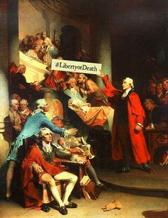 All the great moments, branded. | What U.S. History Would Have Been Like With Hashtags #LibertyOrDeath