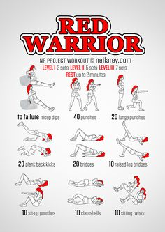 Red Sonja workout