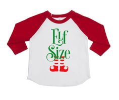 Funny Holiday Kids Shirts - Kids Christmas Shirts - Elf Size - Happy Holidays - Merry Christmas - Toddlers - Trendy - Humor Shirts by VazzieTees on Etsy https://www.etsy.com/listing/472767952/funny-holiday-kids-shirts-kids-christmas  DISCOUNT code ANNABELLE15 on all Vazzie Tees purchases