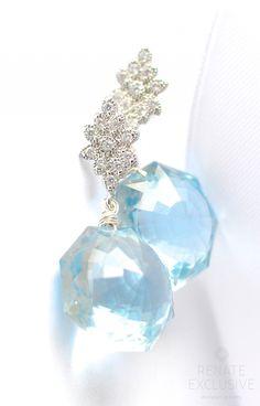 """Sky Blue Topaz Earrings """"Winter Sky"""""""