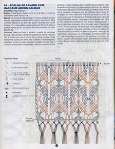 Album Archive - Macrame Barrados Nº 3 Macrame Dress, Macrame Bag, Macrame Knots, Micro Macrame, Crochet Bracelet Pattern, Macrame Chairs, Card Weaving, Macrame Plant Hangers, Macrame Design