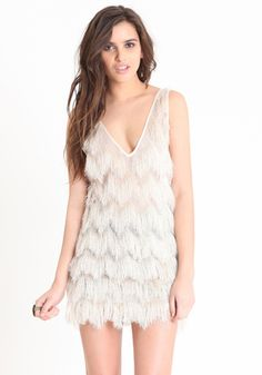 Camilla Fringe Mini Dress by Plastic Island. I AM SO OBSESSED WITH THIS DRESS.
