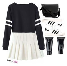 """""""#Newchic"""" by credentovideos ❤ liked on Polyvore featuring adidas Originals"""