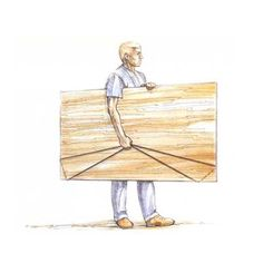 Safely and easily carrying plywood - no back injury! Part of a set of 25 DIY tips - great list!