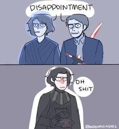 how to disappoint ur grandpa and dad: by kylo ren by Randomsplashes Star Wars Comics, Star Wars Meme, Star Wars Fan Art, Star Wars Clone Wars, Star Wars Clones, Starwars, Star Citizen, Reylo, Anakin Vader
