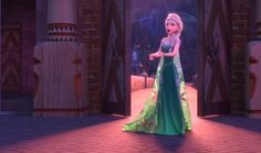Elsa about to sneeze