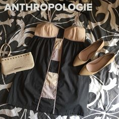 Anthropologie Lilka Dress size M Simple but sexy this dress has it all. This color block slip dress is comfortable and easy to wear. Has adjustable straps and elastic smocked back.   ⚡100% Cotton  ⚡️Machine Wash Cold   ❌ trades ❌ lowballs   reasonable offers considered thru offer button ⬇️ Anthropologie Dresses