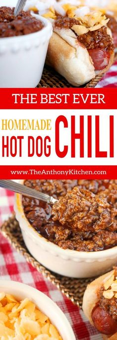 Easy Homemade Hot Dog Chili Recipe A quickfix hot dog sauce recipe featuring ground beef ketchup and the perfect mix of spices Its an upgrade to canned chili and a recip. Chilli Recipes, Sauce Recipes, Beef Recipes, Cooking Recipes, Quick Recipes, Family Recipes, Amazing Recipes, Popular Recipes, Quick Meals