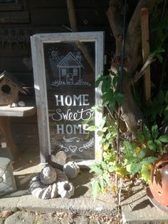 Home Sweet Home Kreidemarker - Alte Fenster Lettering - Beautiful Flowers, Beautiful Pictures, Sweet Home, Garden Quotes, Garden Markers, Chalk Markers, Fun Hobbies, Shabby Chic Style, Plexus Products