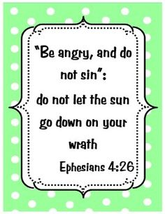 This is a free Bible verse poster designed to go with the Anger lesson plan in my store.