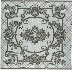 Kira scheme crochet: Scheme crochet no. Filet Crochet Charts, Crochet Motif, Crochet Doilies, Knit Crochet, Thread Crochet, Crochet Stitches, Doily Patterns, Crochet Patterns, Cross Stitch Designs
