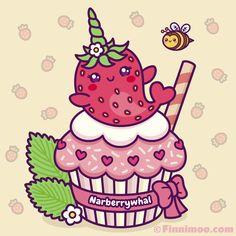 Cartoon Gifs, Cartoon Drawings, Cute Cartoon, Kawaii Narwhal, Cute Narwhal, Cute Kawaii Drawings, Kawaii Art, Cute Food Art, Cute Art
