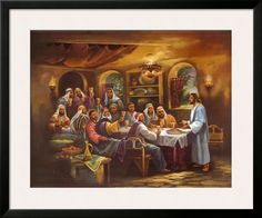 Black Last Supper Framed Art Print..