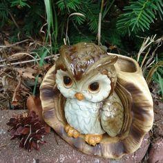 Vintage Woodland Baby Owl Ceramic Planter 57832 by VeejaysVintage, $18.00