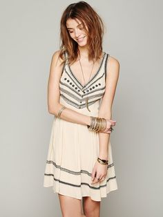Free People Fun Fun Fun Embroidered Fit And Flare Dress at Free People Clothing Boutique